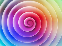 Colorful 3d spiral front view, abstract illustration Royalty Free Stock Images