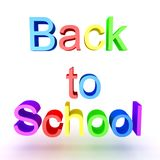 Colorful 3D text saying Back to School Royalty Free Stock Image