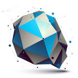Colorful 3D vector abstract design object, polygonal complicated Stock Photos