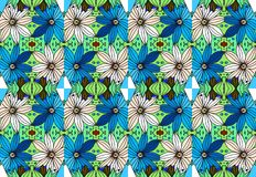 Colorful daisies. Floral seamless pattern. 3 Stock Images