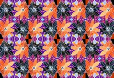 Colorful daisies. Floral seamless pattern. 1 Stock Image