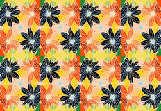 Colorful daisies. Floral seamless pattern. Bright summer design. Colorful daisies. Floral seamless pattern-2 Royalty Free Stock Photo