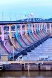 Colorful dam. Spring colorful at Big Dam Bridge Stock Image
