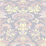 Colorful damask seamless floral pattern background Stock Image