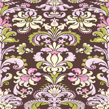 Colorful damask seamless floral pattern background Royalty Free Stock Photography