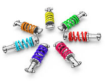Colorful dampers Royalty Free Stock Image