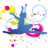 Colorful Dance Graphic Royalty Free Stock Photos