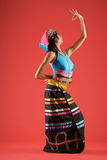 Colorful dancer of Chinese Royalty Free Stock Images