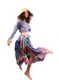 colorful dancing dress gipsy lady pretty retro Στοκ Φωτογραφία