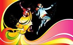Colorful Dandiya Stock Photography