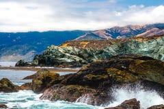 Colorful Dangerous coast Royalty Free Stock Image