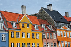 Colorful Danish houses Royalty Free Stock Images