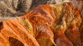 The colorful Danxia landform group Royalty Free Stock Image