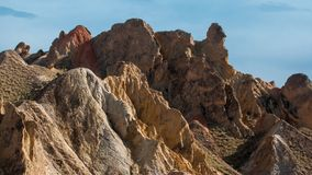 The colorful Danxia landform group Stock Images