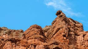 The colorful Danxia landform group Stock Image