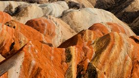 The colorful Danxia landform group Royalty Free Stock Photo