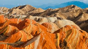 The colorful Danxia landform group Royalty Free Stock Photography