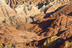 Colorful Danxia landform Royalty Free Stock Photos