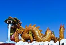 Colorful dargon statue Stock Image