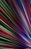Colorful dark background from the strips diverge from the bottom to the edges. Abstract unique. Illustration and decoration. Blue and yellow, white and red Stock Photo