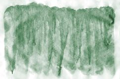 Colorful dark green watercolor background for wallpaper. Aquarelle bright color illustration.  royalty free stock photography