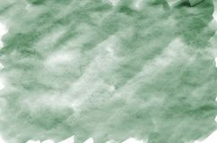 Colorful dark green watercolor background for wallpaper. Aquarelle bright color illustration.  stock image
