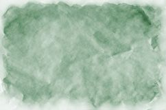 Colorful dark green watercolor background for wallpaper. Aquarelle bright color illustration.  stock images