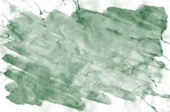 Colorful dark green watercolor background for wallpaper. Aquarelle bright color illustration.  stock photo