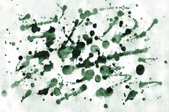 Colorful dark green watercolor background for wallpaper. Aquarelle bright color illustration.  stock photography