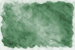 Colorful dark green watercolor background for wallpaper. Aquarelle bright color illustration.  royalty free stock photos