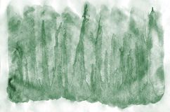 Colorful dark green watercolor background for wallpaper. Aquarelle bright color illustration.  royalty free stock images