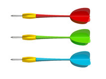 Colorful Dart Arrows Royalty Free Stock Photo