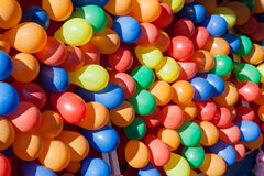 Colorful Dart Ballons Game at the Carnival Royalty Free Stock Photo