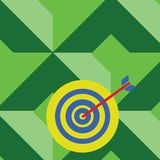 Colorful Dart Board in Circle Concentric Style with Arrow Hitting Center Bulls Eye. Creative Background Idea for. Color Dart Board in Concentric Style with Arrow vector illustration