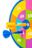 Colorful dartboard with arrows Royalty Free Stock Image