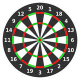 Colorful dartboard on white background. Royalty Free Stock Images