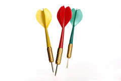 Colorful darts Stock Photography