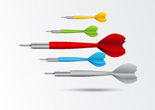 Colorful darts background Stock Photos