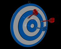 Colorful darts isolated aim, purpose concept Royalty Free Stock Photo