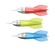 Colorful darts Royalty Free Stock Image