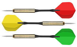 Colorful darts on white Stock Image