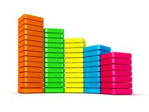 Colorful data graphic Royalty Free Stock Photo