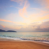 Colorful dawn over the sea. Royalty Free Stock Images