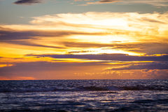 Colorful dawn over the sea. Stock Photo