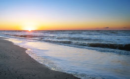 Colorful dawn over the sea. Royalty Free Stock Photography