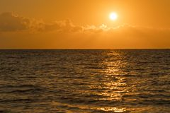 Colorful dawn over the sea, Sunset. Beautiful magic sunset over the sea. Beautiful sunset over the ocean. Sunset over stock image