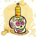Colorful Day Of The Dead Skull Stock Photography