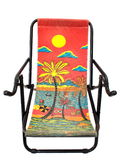 Colorful deck chair Royalty Free Stock Photography