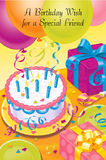 Colorful decorated birthday Royalty Free Stock Image