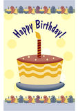 Colorful decorated birthday Stock Images